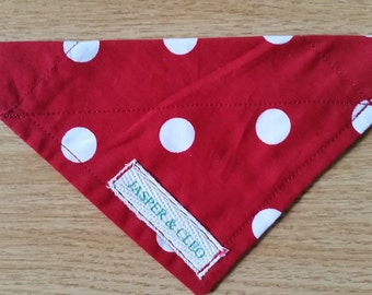 Medium red polka dog pet bandana neckerchief