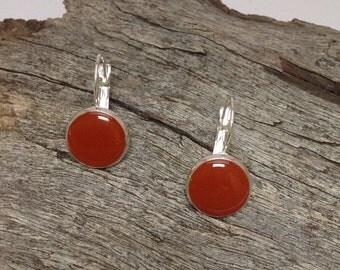 Resin drop earrings, resin earring jewellery, coloured earrings, resin earrings