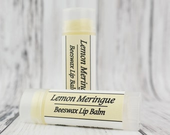 Organic Lemon Meringue Pie • Natural Beeswax • Lip Balm