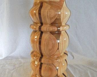 Large hand turned vase