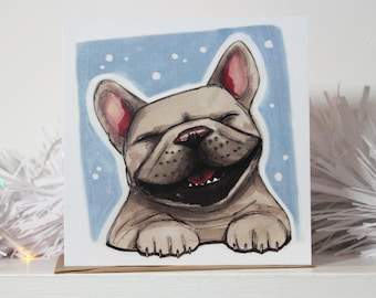 French Bulldog (Frenchie) Merry Christmas Card