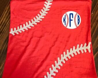 Glitter Baseball Tank with Monogram