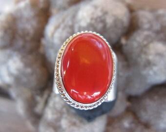 Adjustable  Red  Rosarita  Ring