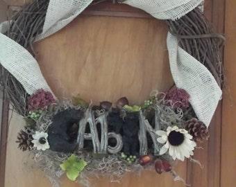 Cabin outdoorsy  wreath