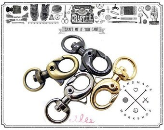 4PCS 30X15MM OVAL TRIGGER snap hook swivel clasp lobster claws findings zinc alloy metal snap hooks metal snap hooks wholesale.