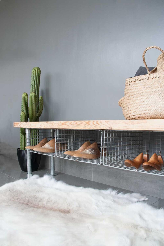 wire shoe rack bench. Black Bedroom Furniture Sets. Home Design Ideas