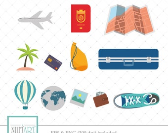 Trip clipart , Journey clipart, vector graphics, hike clipart, digital clipart, digital images -  CL 081