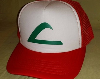 Ash Ketchum Hat - Pokemon - Gotta catch them all - Pokemon Trainer - Ash Hat