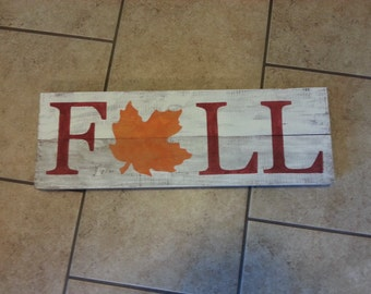 Fall with Leaf Sign