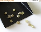 ON SALE 50% 2 Pieces Raw Diamonds, Flat Rough Diamonds, Yellow Diamonds, Uncut Diamonds 5mm each Approx, SKU-11