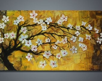 Blooming Tree- acrylic on canvas-impasto painting