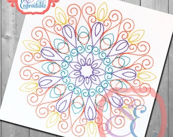 EMMA MANDALA Design For Machine Embroidery -  Instant Download