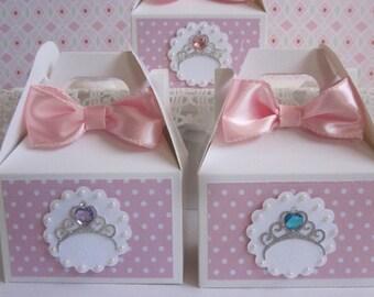 Princess Favor Boxes, Favor Boxes, Girl Birthday Favor Boxes, Birthday Favor Boxes, Tiara Favor Boxes, Quinceanera Favor Boxes, Princess Box