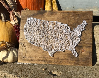 United States String Art Sign, MADE TO ORDER