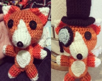 Fox With A Monocle Crochet Pattern