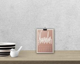 Desk Calendar 'STEELHEART', planar // A5