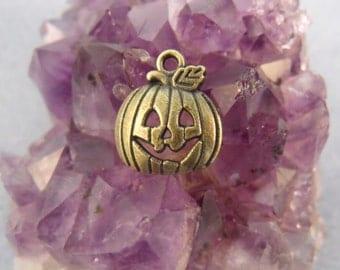Tibetan Silver Halloween Jack O' Lantern Pumpkin Charms