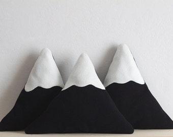Snowy Mountain Pillow || SMALL