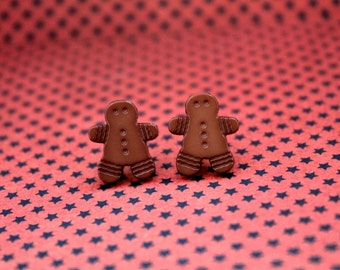 Christmas gingerbread men man  plugs for gauged ears 5mm 4g stretched