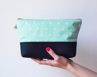 Mint Traveler Clutch, Faux Leather Clutch