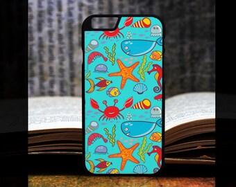 Crab iPhone 6 case, starfish iphone 6 plus case, prawn iPhone 6 case, jellyfish iPhone 6 case, starfish iphone 6 case, fish iPhone  PC1027