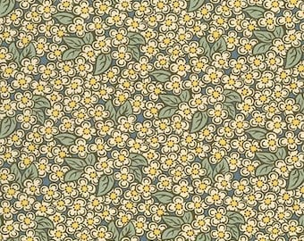 Home Again Cotton Fabric by Lynette Jennings Thimbleberries RJR Gray Small Floral