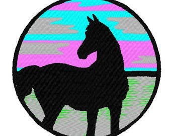 Horse Embroidery Design 4x4 hoop
