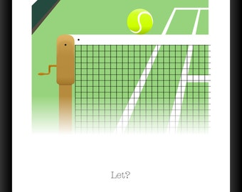 Let? Wimbledon Illustration A3 / A4 Poster