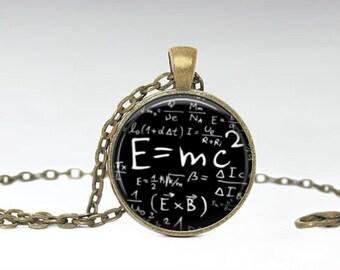 Math Teacher Gift Necklace - Back to School Gift - Math Jewelry- Math Teacher Necklace -Science Jewelry- Geek jewelry - Antique Bronze