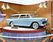 Chevrolet Nomad 1955 Poster - Dealership Promotional Display of Brand New Nomad
