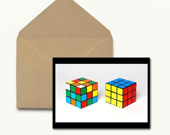Rubiks Cube Note Cards - Boxed Set of 10 With Envelopes