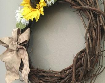 Sunflower/Daisy Spring Wreath