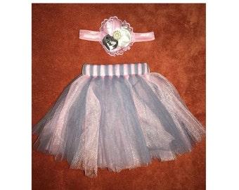 1 Set Newborn Tutu Set, Baby Tutu, Autumn Tutu, Baby Tutu Set, Tutu and Matching Headband, Photo Prop, Newborn . Fast Shipping