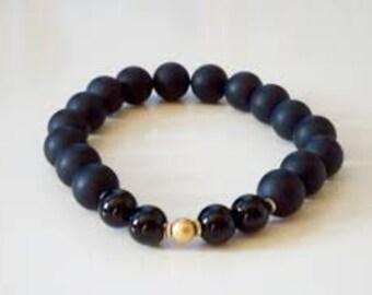 Black Agate Bracelet Protection From Bad Dreams Aand Nightmares