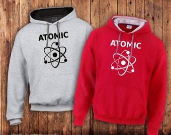 Atomic science Hoody, Geek or Nerd scientific Atom sweater