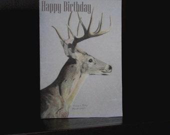 Printable Birthday Card - Original Drawing of a Deer - 5X7