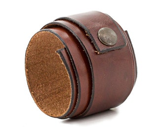 Brown Leather Wristband, Cuff Wrap Bracelet, Cuff, Free shipping