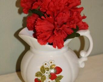 SALE - Vintage McCoy Strawberry Pitcher