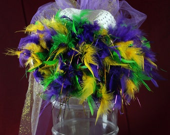 Party Hat with Mardi Gras Embellishments