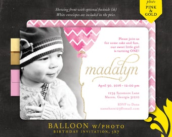 BALLOON . birthday invitation