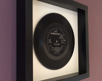 "Louis Armstrong ""What a Wonderful World"" - Original Framed Vinyl"