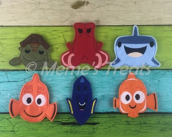 Set of 6 Finger Puppets - Inspired by Ocean Friends movie