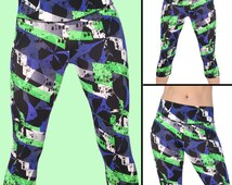Workout Capris. Yoga Capri Leggings. Womens Capris. Cross Training Gym Capri Tights. Fitness Cropped Pant. Exercise Workout Pants. S-M-L 201