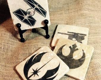 Star Wars 4 Piece Stone Tile Coaster Set!