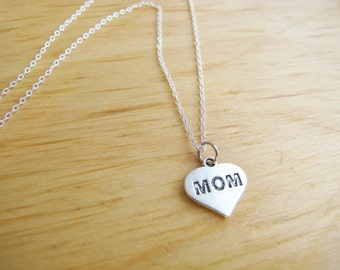 Simple Affordable Mom Charm Silver Necklace - Mother's Day Special Limited Quantity