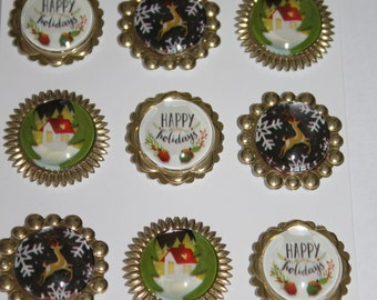 Free Shipping!!  Jolee's Boutique Holiday Baubles for Scrapbooking & Card Making - 50-30235 - 9 stickers - SNSJ3