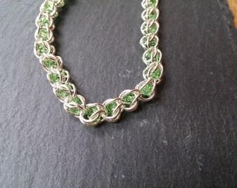Captured Crystal Bracelet - Green