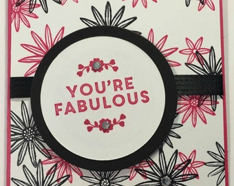 Stampin' Up You're Fabulous card