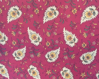 Motif Vintage Wallpaper French Country Red Yellow Green Floral
