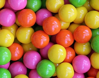 Gumballs Bubble Brights 25mm or 1 Inch,  FREE Expedited Shipping